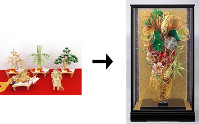 結納飾→羽子板を作成