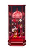 吊るし飾りケース入 小 赤 203-601