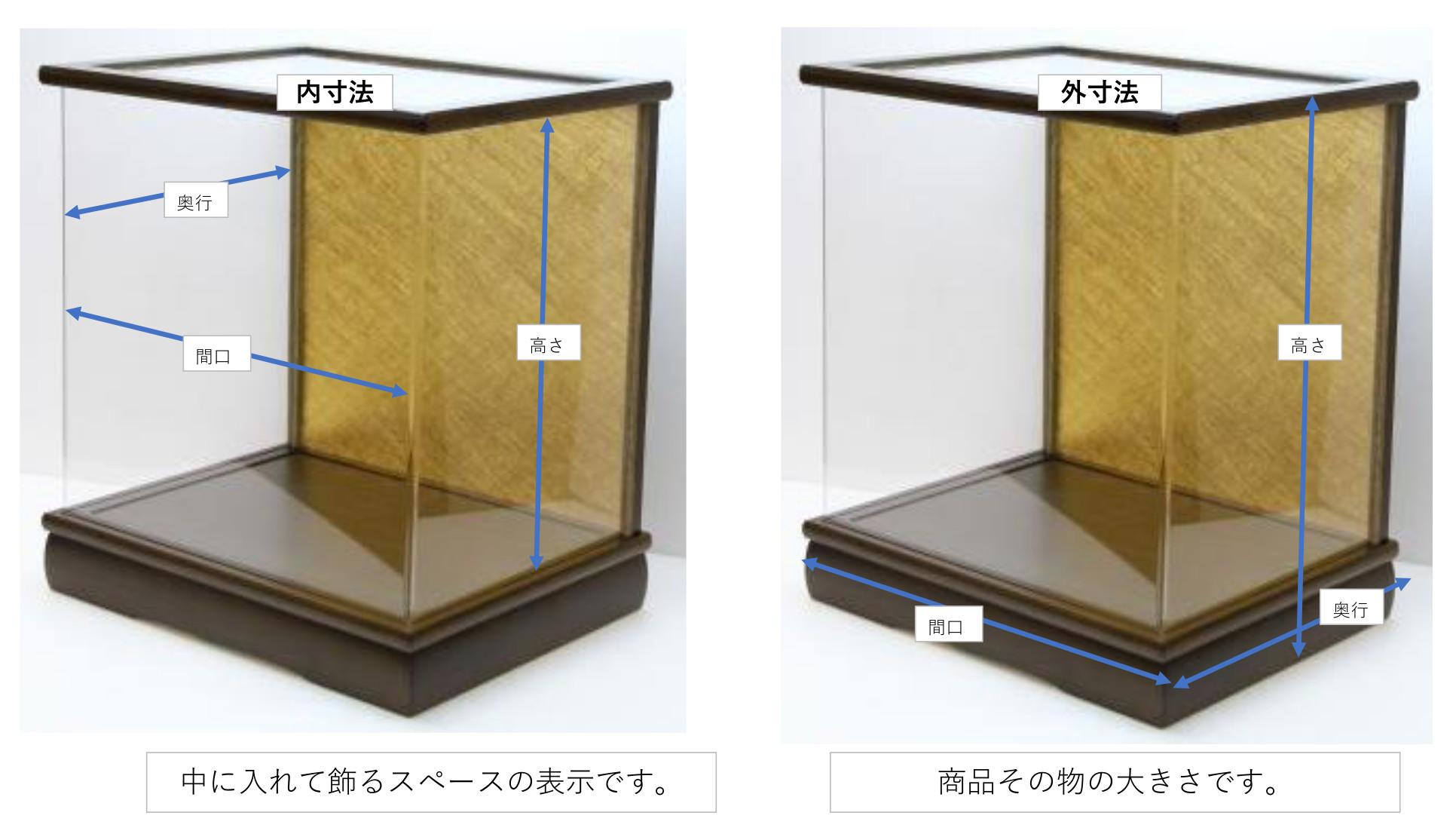 アクリル木製ケースのサイズ規定